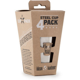 Klean Kanteen Pint Cup 10oz 4-pack (295 ml) brushed stainless